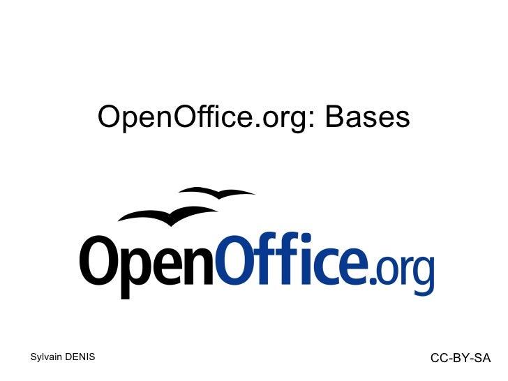 <ul>OpenOffice.org: Bases </ul>