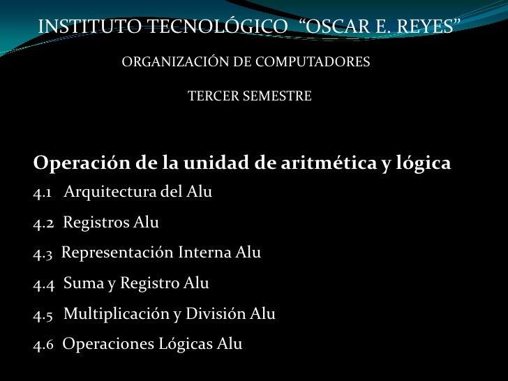 4.operación de la unidad aritmética y lógica