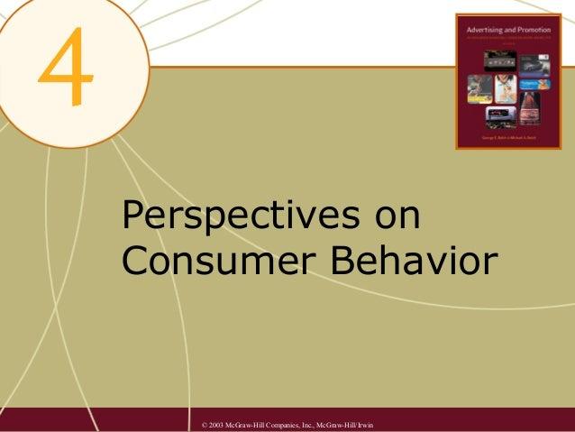 4. perspectives on consumer behavior