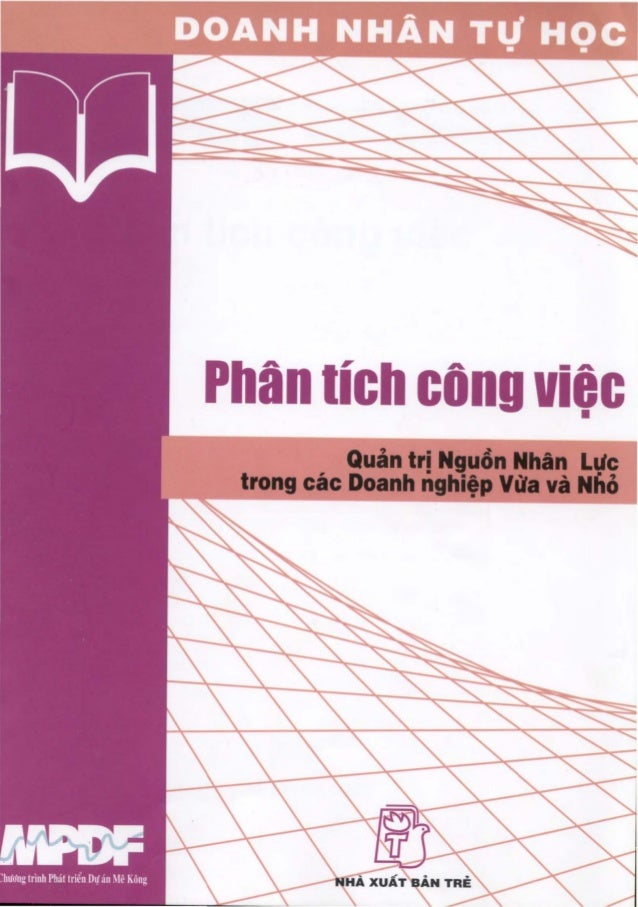 Phan IIch cOng viac                 •           Quan tri Nguon NhAn Laic trong cac Doanh nghi,p Vlia va Nlio