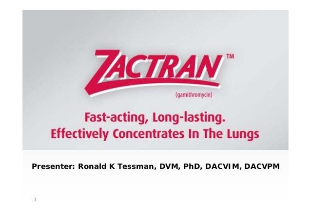 1 Presenter: Ronald K Tessman, DVM, PhD, DACVIM, DACVPM