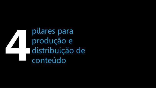 pilares para produção e distribuição de conteúdo