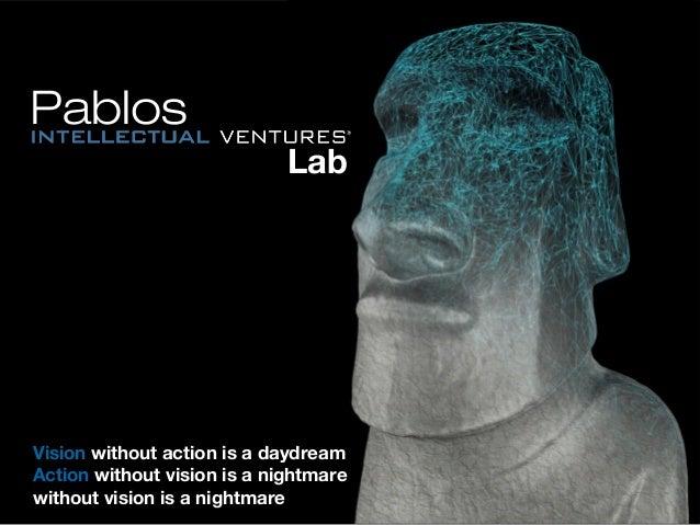 PablosPablos LabLab VisionVision without action is a daydreamwithout action is a daydream ActionAction without vision is a...