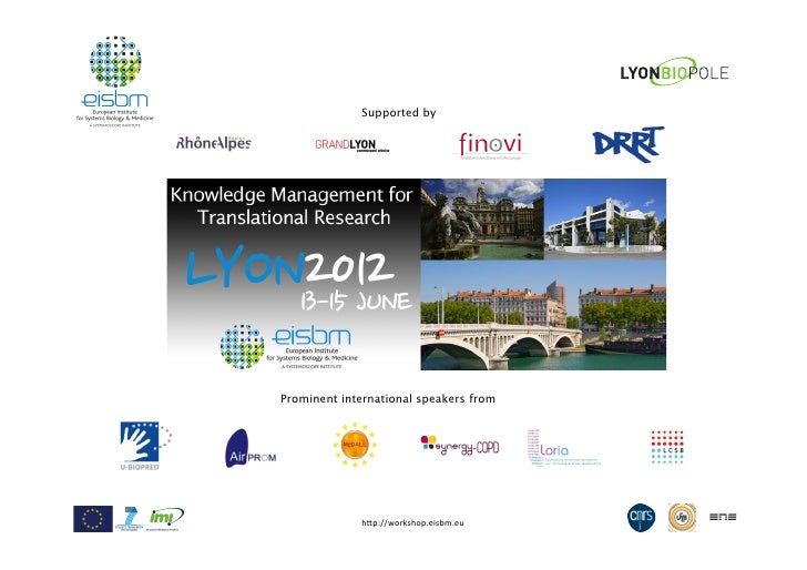 """Supported byProminent international speakers from             h""""p://workshop.eisbm.eu1"""