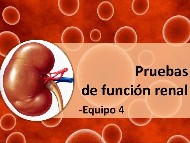 Pruebas de función renal -Equipo 4