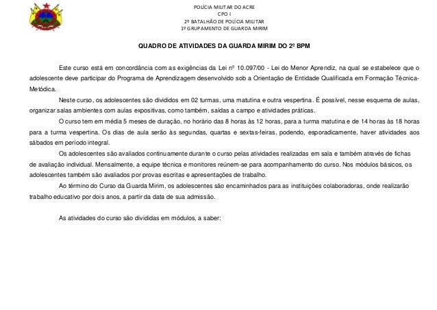 POLÍCIA MILITAR DO ACRE                                                                    CPO I                          ...