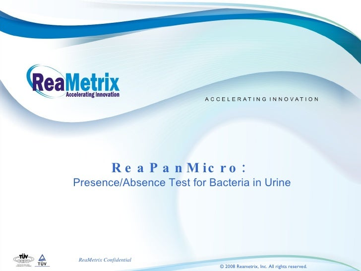 ReaPanMicro:  Presence/Absence Test for Bacteria in Urine