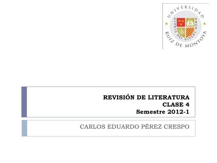 """De la revisión de literatura al """"estado de la cuestión"""""""