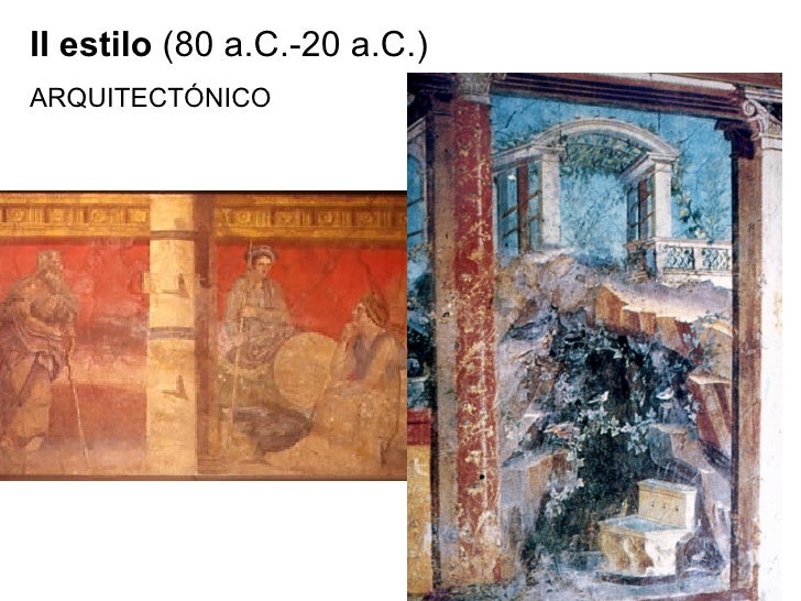 II estilo  (80 a.C.-20 a.C.)  ARQUITECTÓNICO