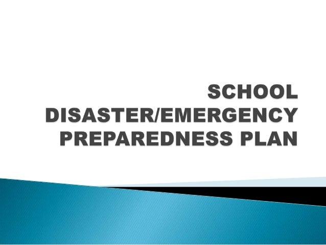 4.school disaster preparedness plan