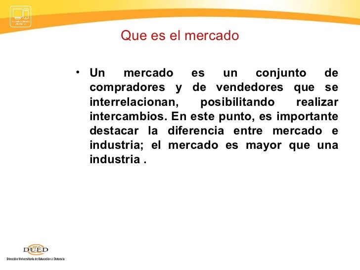 El mercado economia for Que es mercado exterior