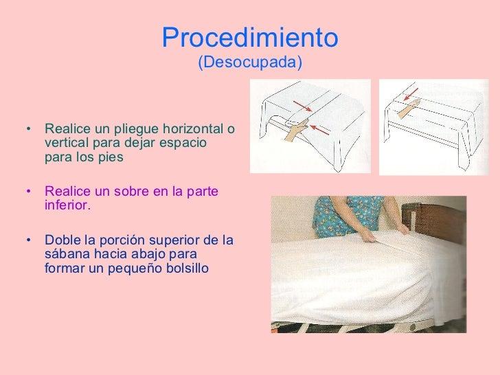 Tendidos de cama t cnica for Cama cerrada