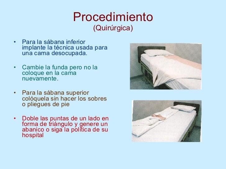4 tecnicas de tendidos de cama for Cama quirurgica
