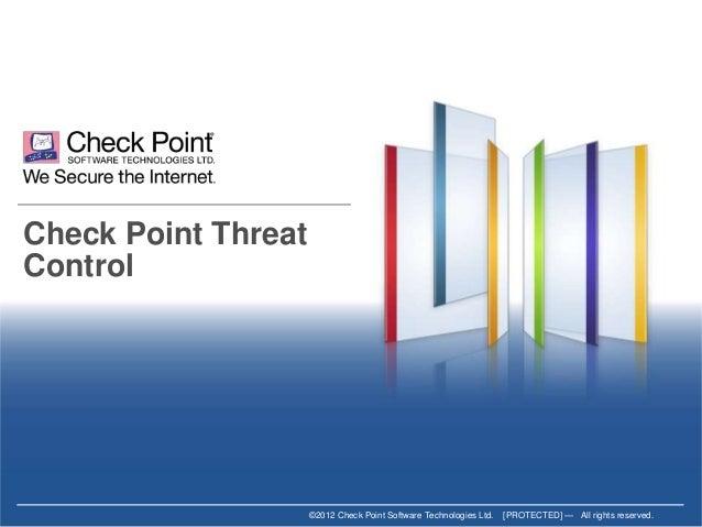 Detección y mitigación de amenazas con Check Point