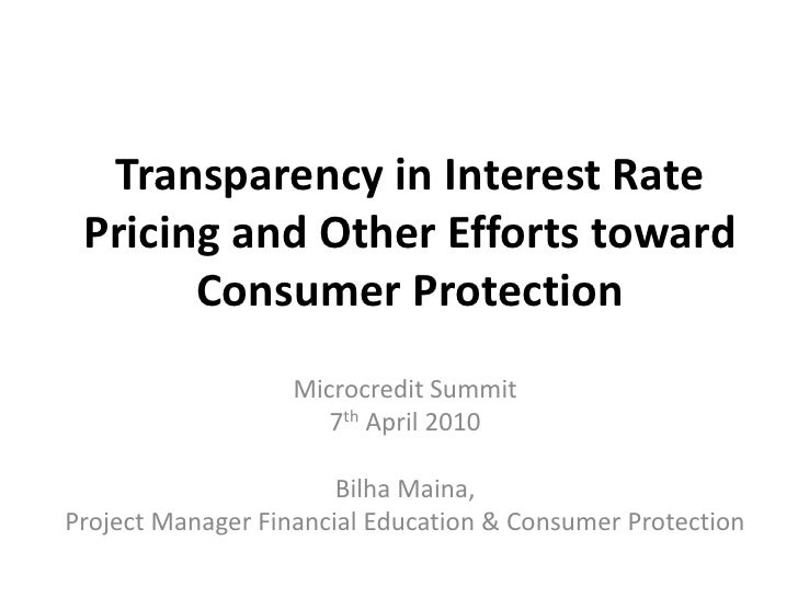 AMERMS Workshop 4: Transparency in Interest Rate Pricing (PPT by Billha Maina)