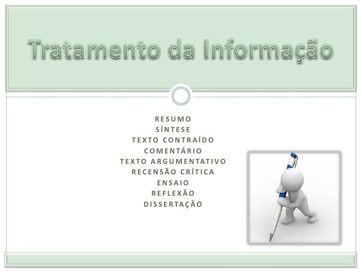 4. tratamento da informaçao