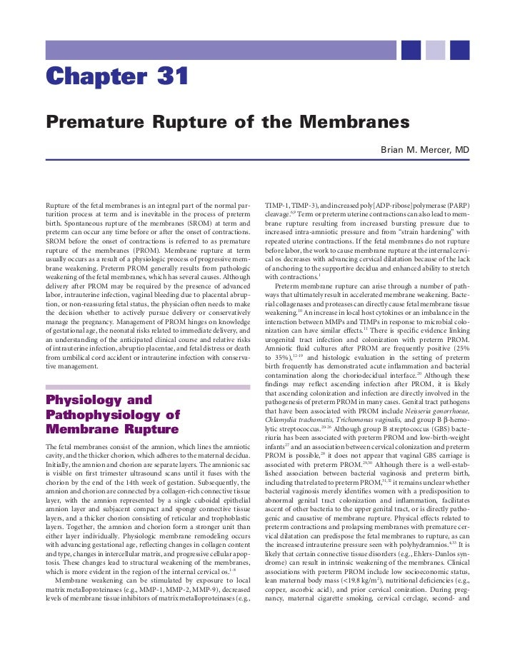 Chapter 31Premature Rupture of the Membranes                                                                              ...