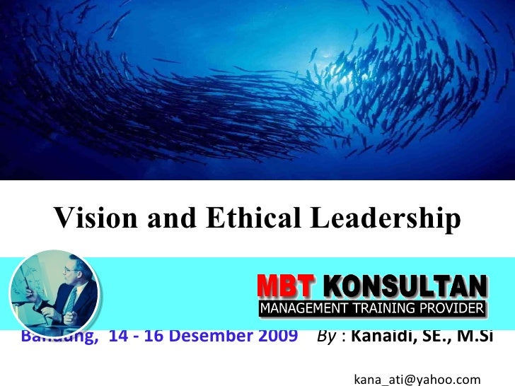Vision And Ethical Leadership-TRAINING