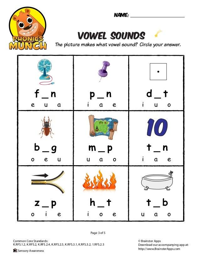 Vowel Sounds Phonics Worksheet 638 Cb