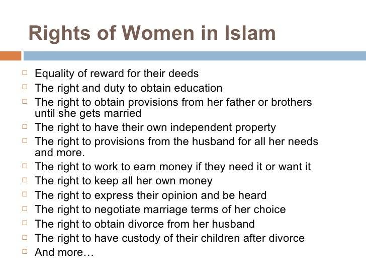 essay on status of women in islam