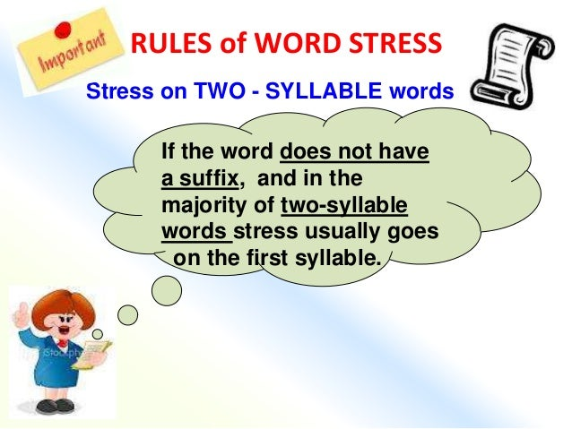 what is a stressed syllable dictionary