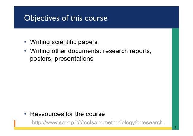 Scientific paper writing service