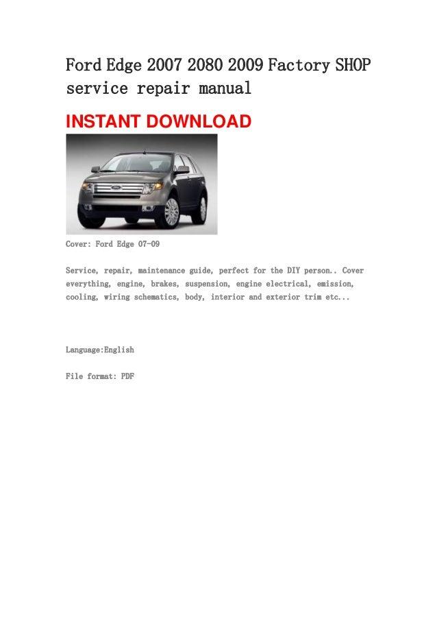 Ford       Edge       2007    2080 2009 repair    manual