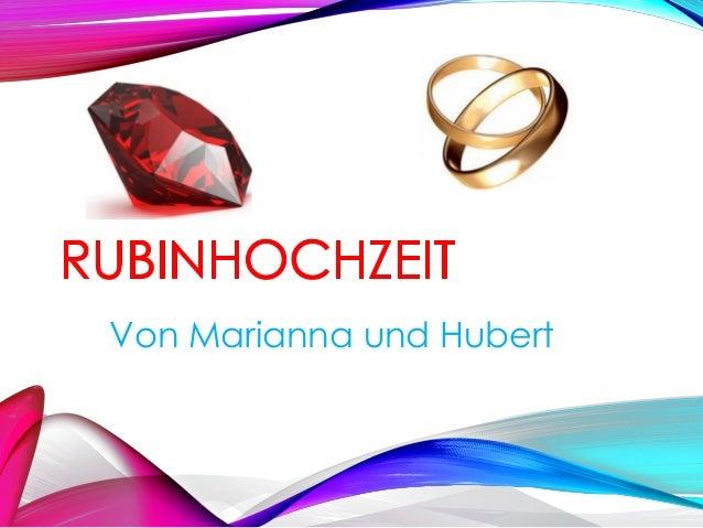 Von Marianna und Hubert