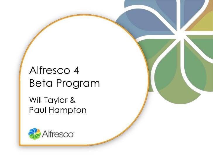 4.0 Beta Webinar Will Taylor
