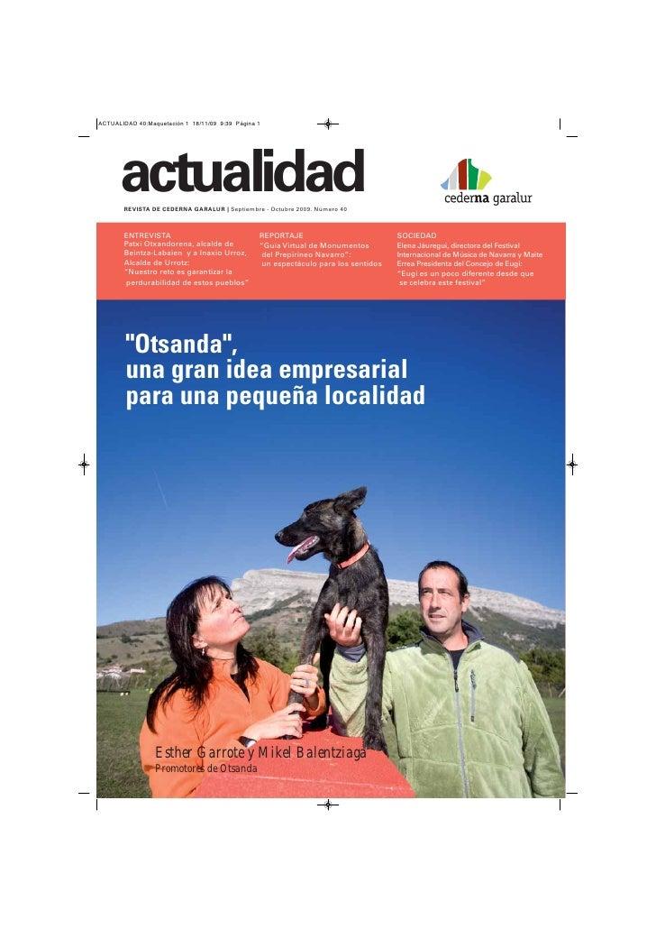 actualidad REVISTA DE CEDERNA GARALUR | Septiembre - Octubre 2009. Número 40    ENTREVISTA                             REP...