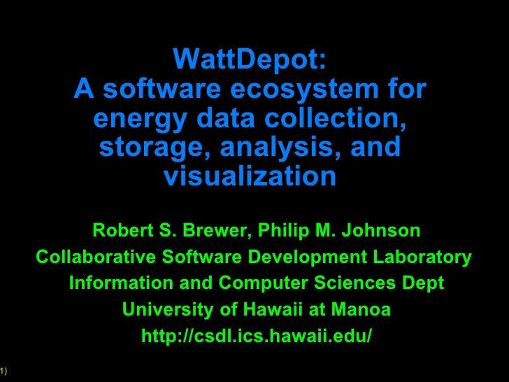 Introduction to WattDepot