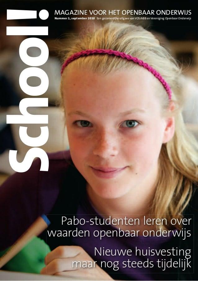 Onderwijsmagazine School! nummer 1 - 2010