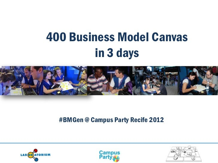 400 Business Model Canvas         in 3 days  #BMGen @ Campus Party Recife 2012