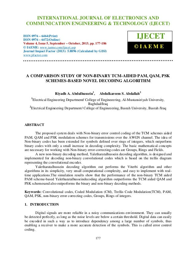 International Journal of Electronics and Communication Engineering & Technology (IJECET), ISSN 0976 – INTERNATIONAL JOURNA...