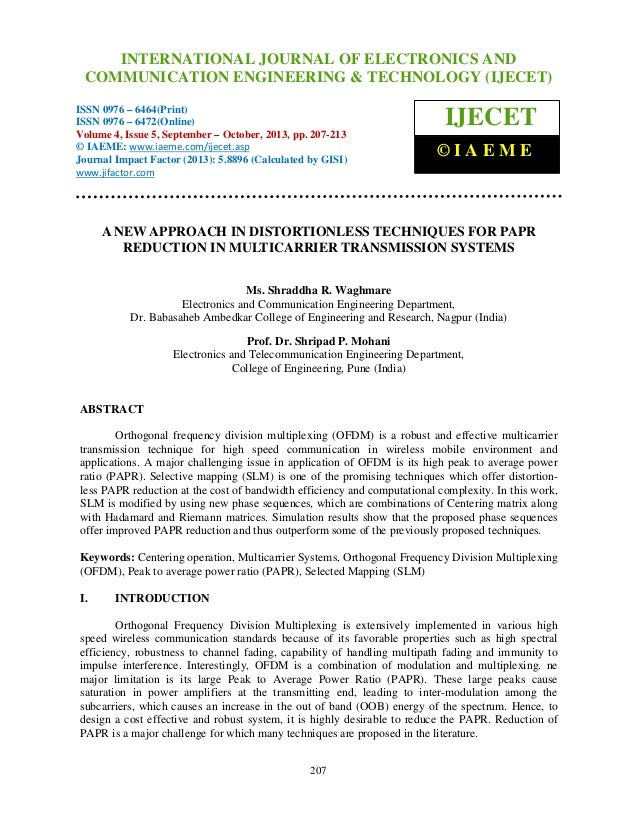 International Journal of Electronics and Communication Engineering & Technology (IJECET), ISSN 0976 – INTERNATIONAL JOURNA...