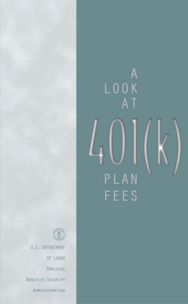 A Look At 401(k) Plan Fees