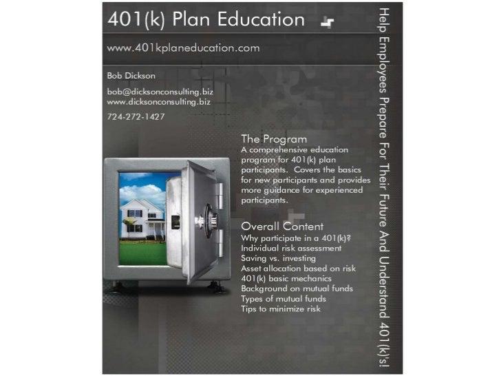 401(k) Plan Education Program