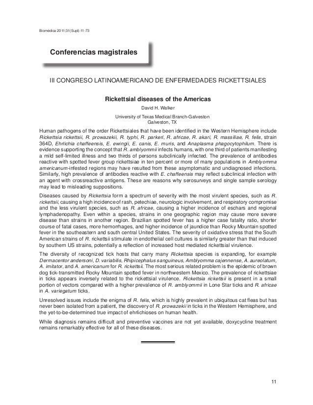 Biomédica 2011;31(Supl):11-73                                                               Conferencias magistrales      ...