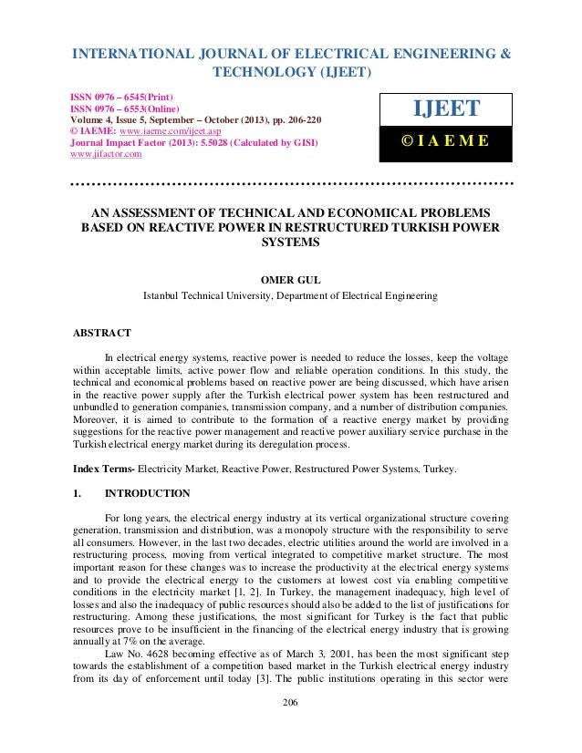 International Journal of Electrical Engineering and Technology (IJEET), ISSN 0976 – 6545(Print), INTERNATIONAL JOURNAL OF ...