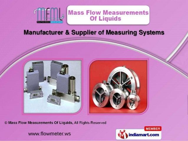 Mass Flow Measurements Of Liquids Maharashtra India