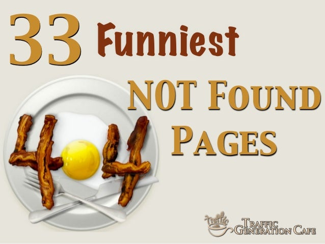 33  Funniest NOT Found Pages