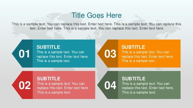 conceptual site model template - animated classic flat powerpoint template