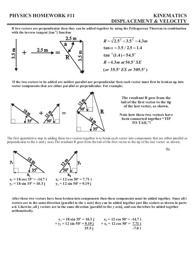 Printables Physics Worksheet physics vector worksheet davezan graphically adding vectors displacement vectors