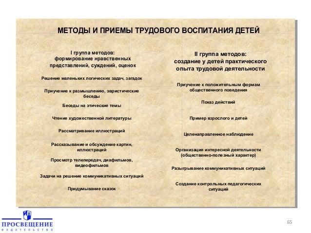 ДЕТЕЙ I группа методов: