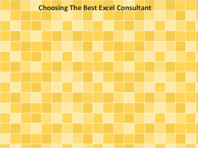Choosing The Best Excel Consultant