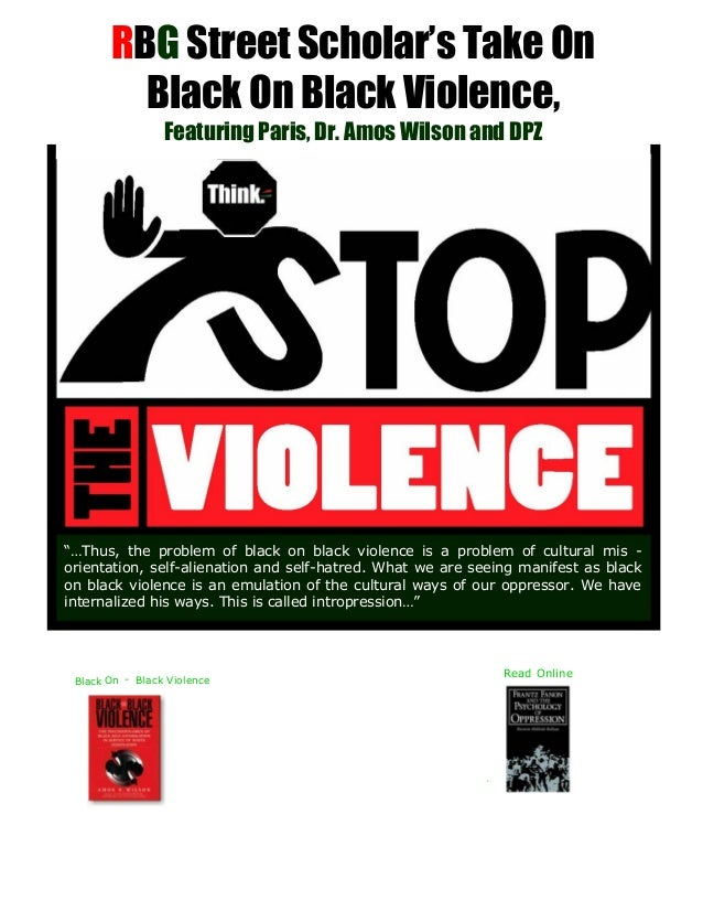 RBG Street Scholar's Take On Black On Black Violence