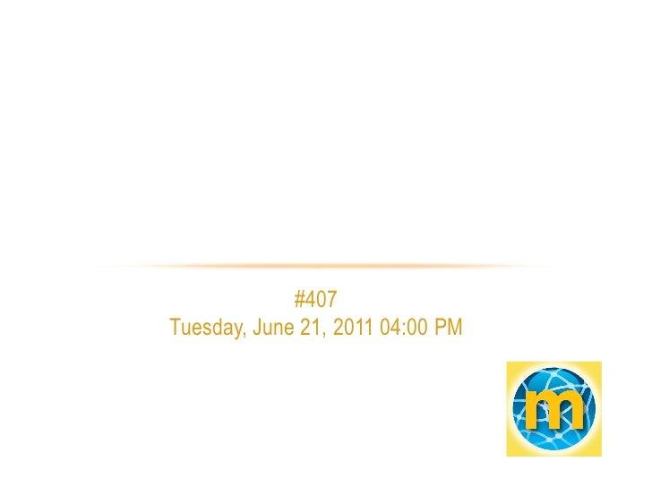 TIP Project Vendor Solutions - June 21, 2011