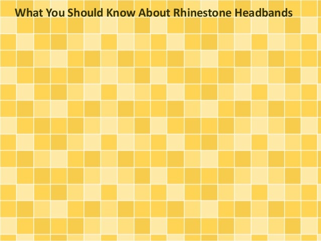 What You Should Know About Rhinestone Headbands