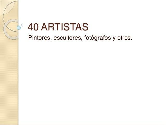 40 artistas   antonio ponce