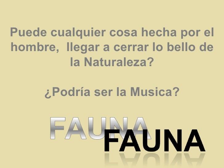 Puede cualquier cosa hecha por el hombre,  llegar a cerrar lo bello de la Naturaleza? ¿Podría ser la Musica?